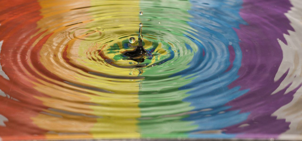 pride colour ripple effect