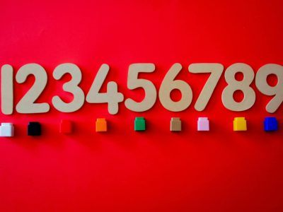 The figures of 1 to 9 on red background